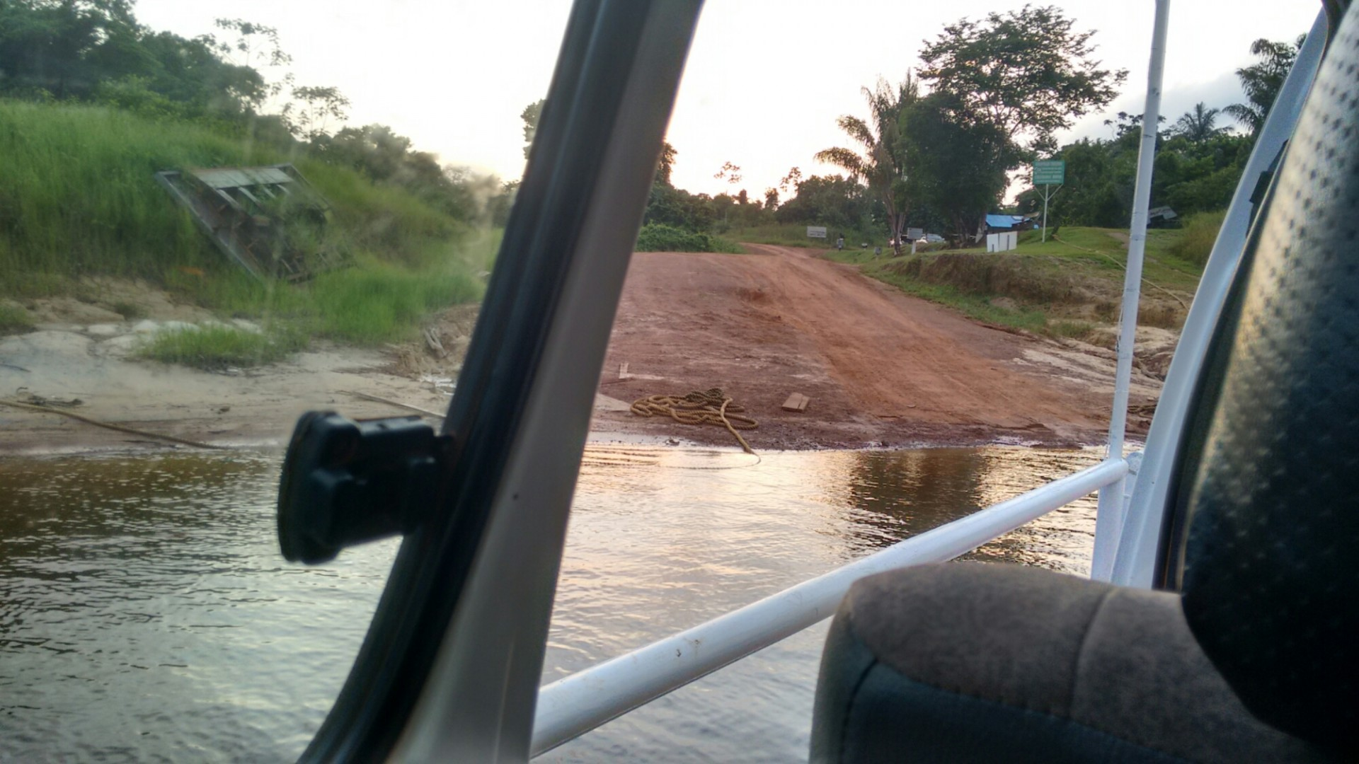 The Kurupukari river crossing. I was too tired to take good pictures.