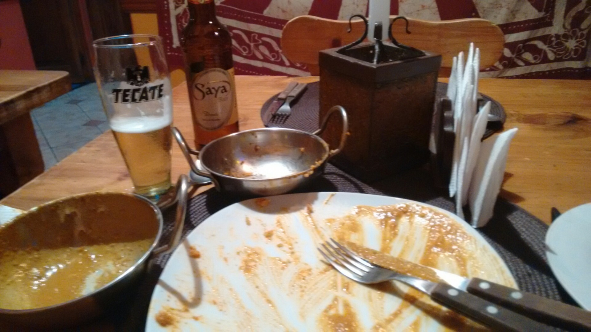 This underwhelming snap of my already eaten llama curry sits in place of a great one of the restaurant entrance barbecue. Unfortunately, that photo seems to have been misplaced. Don't worry, I'm as disappointed that you.