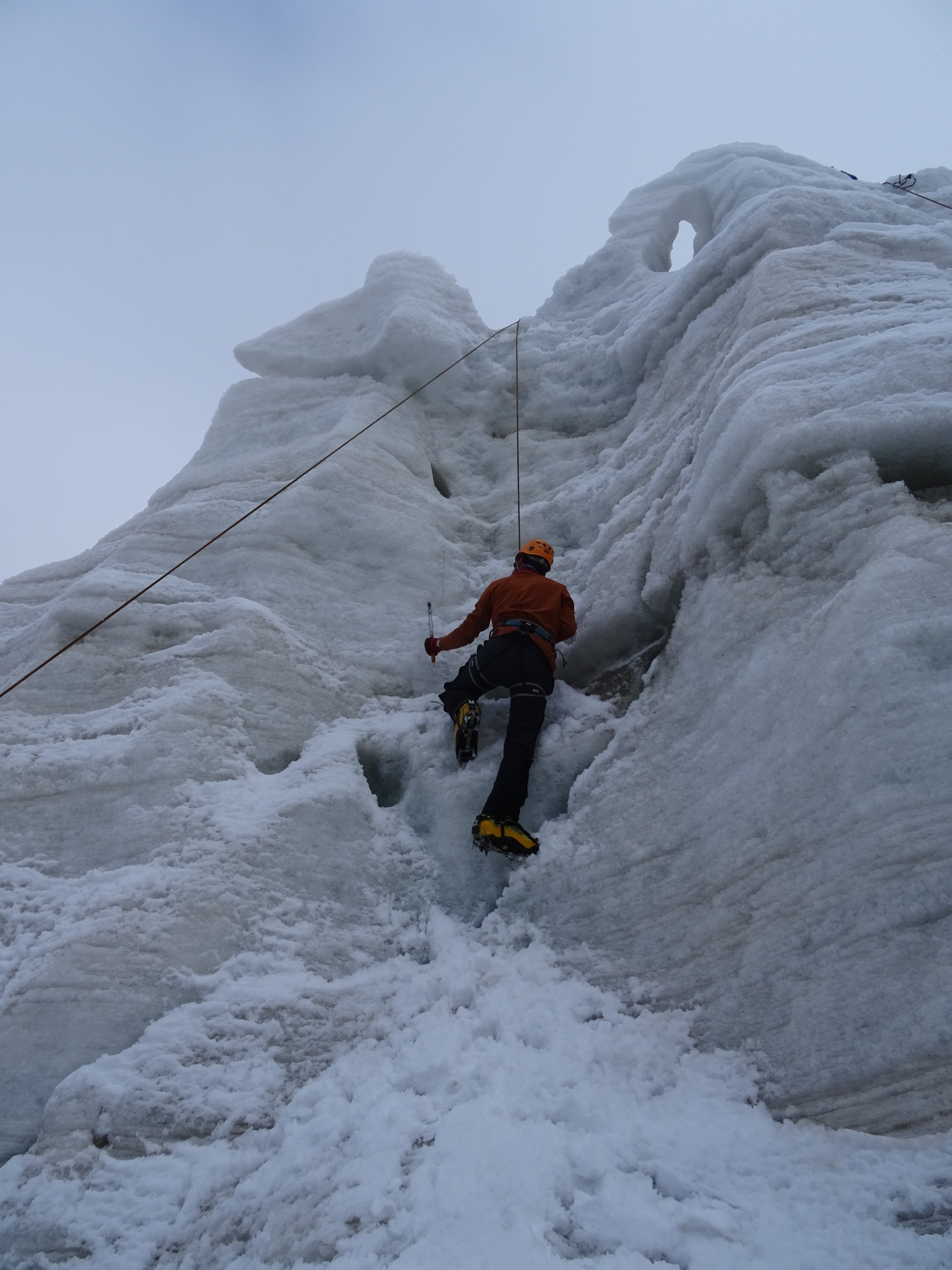 Bit of ice climbing. No problem.