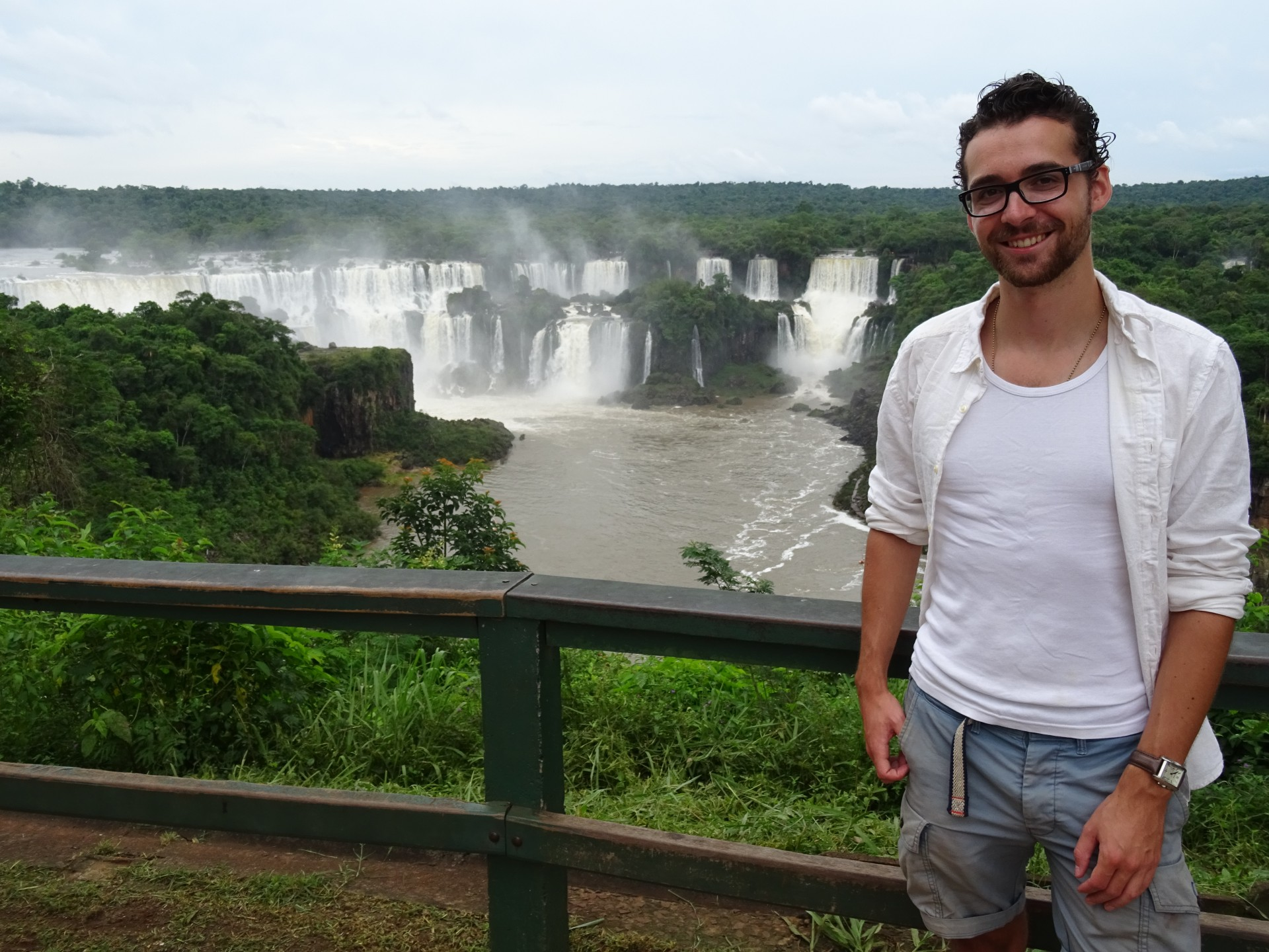 First views of Iguazu Falls.