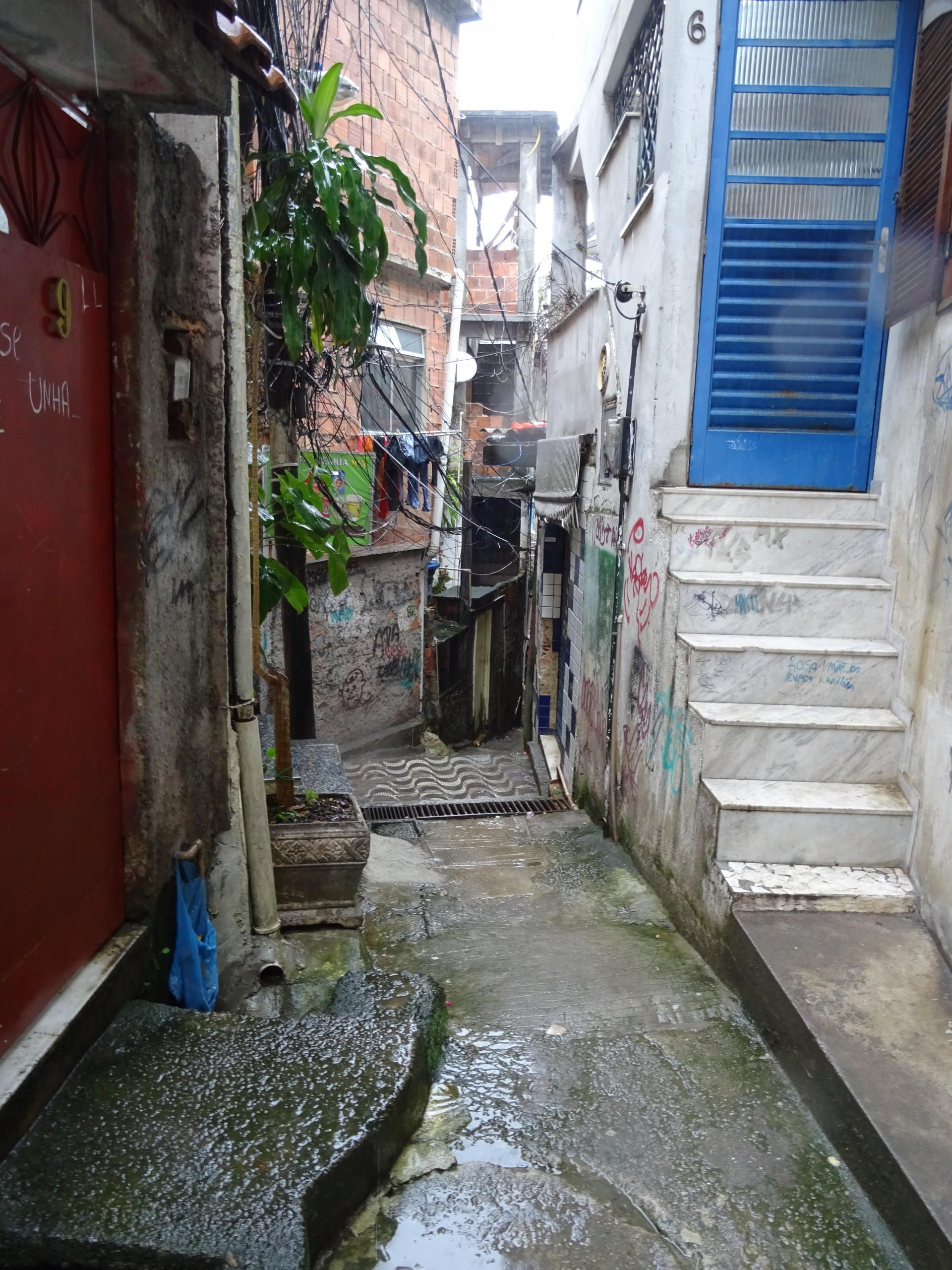 Narrow alleys abound. Umbrellas are hard to fit through.