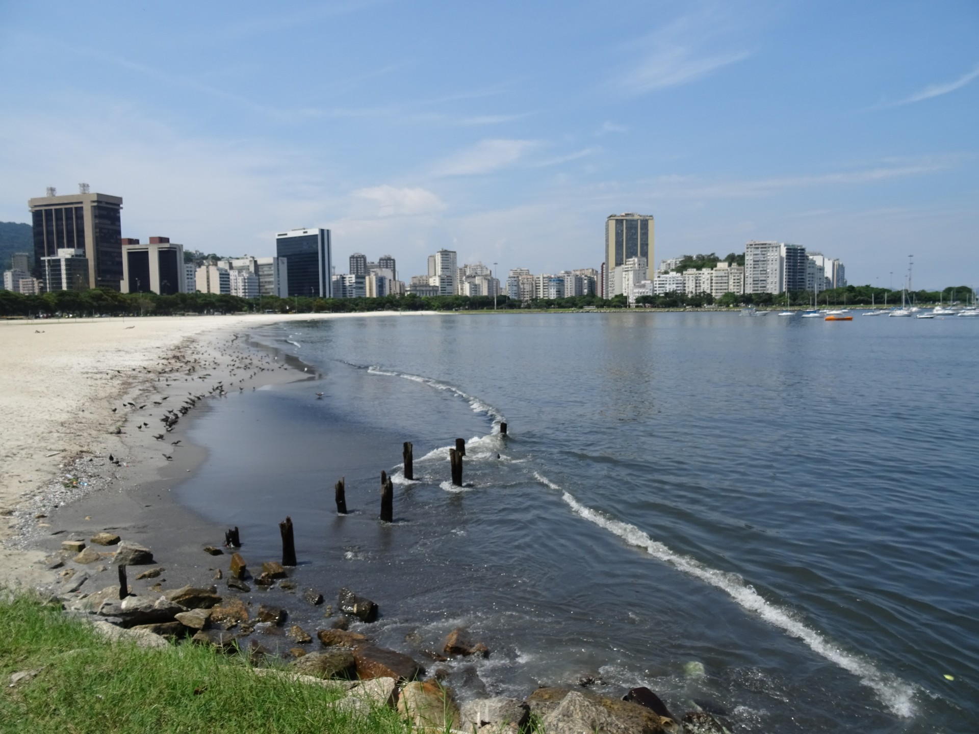 The beach in Botafogo.