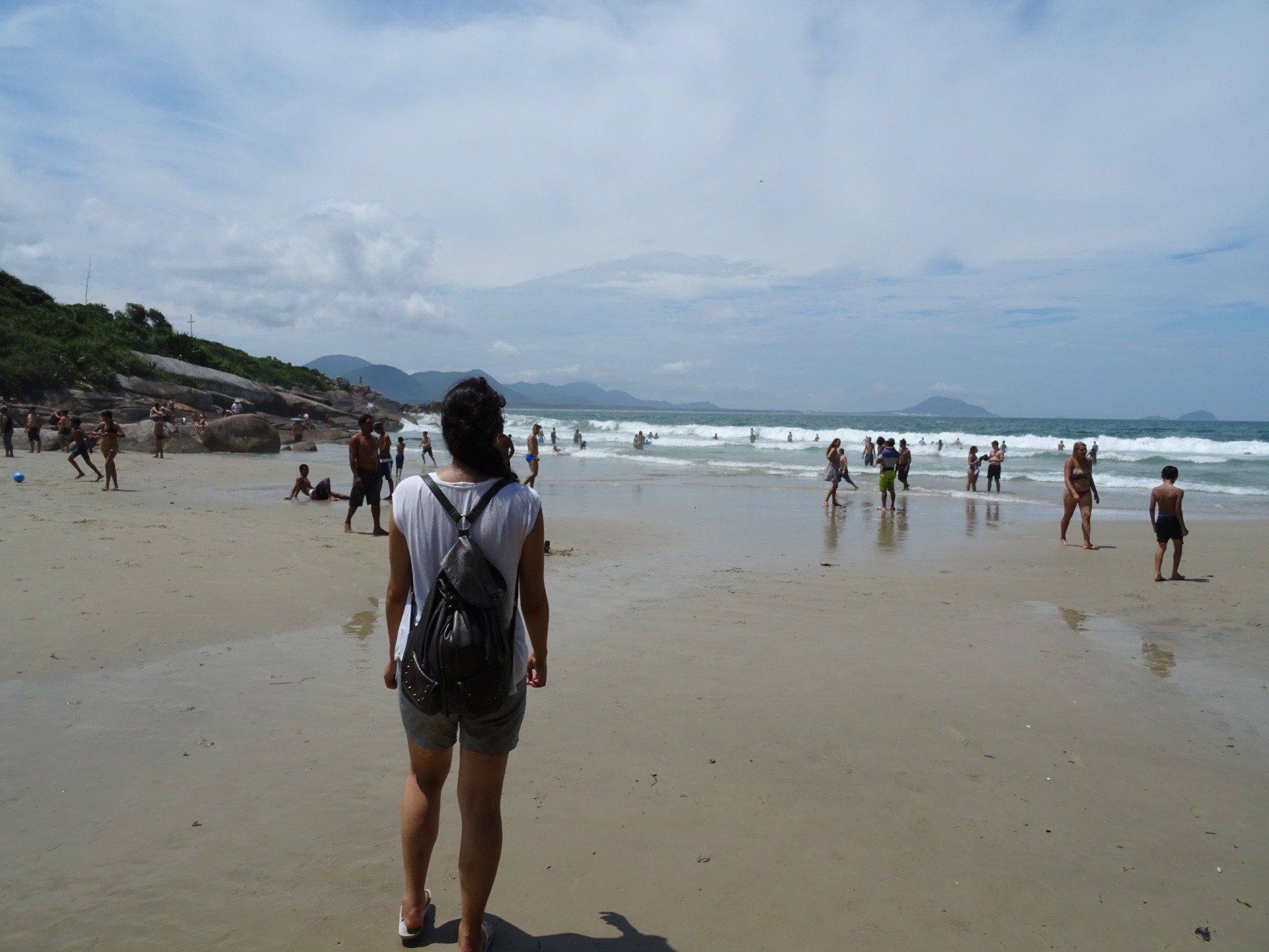The beach at Barra da Lagoa.