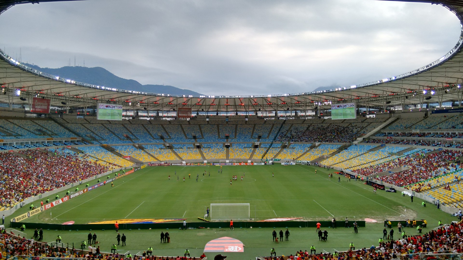 The Maracana, with almost nobody in it.