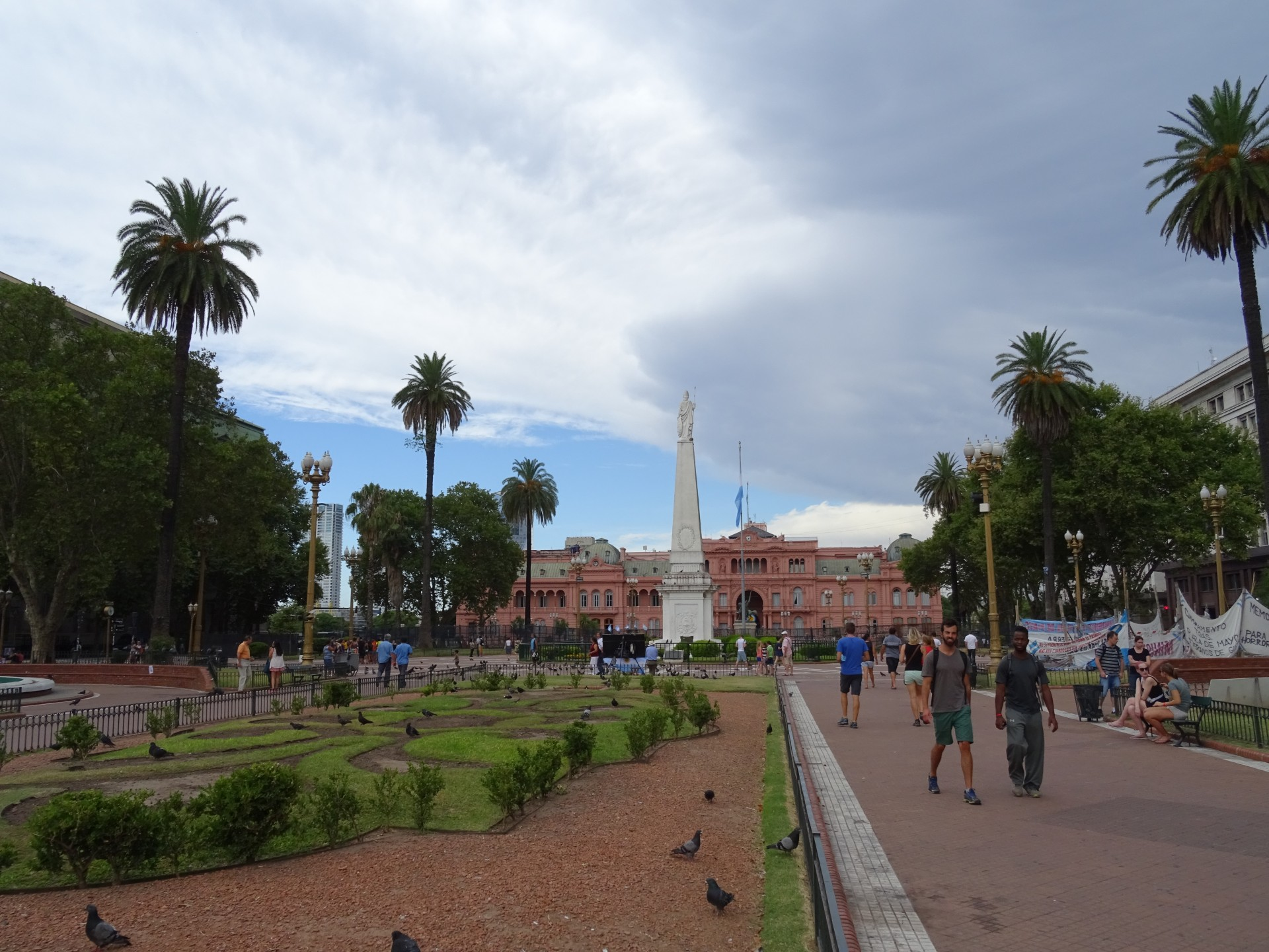 Plaza de Mayo and the pink building. That seems to be it's official name.