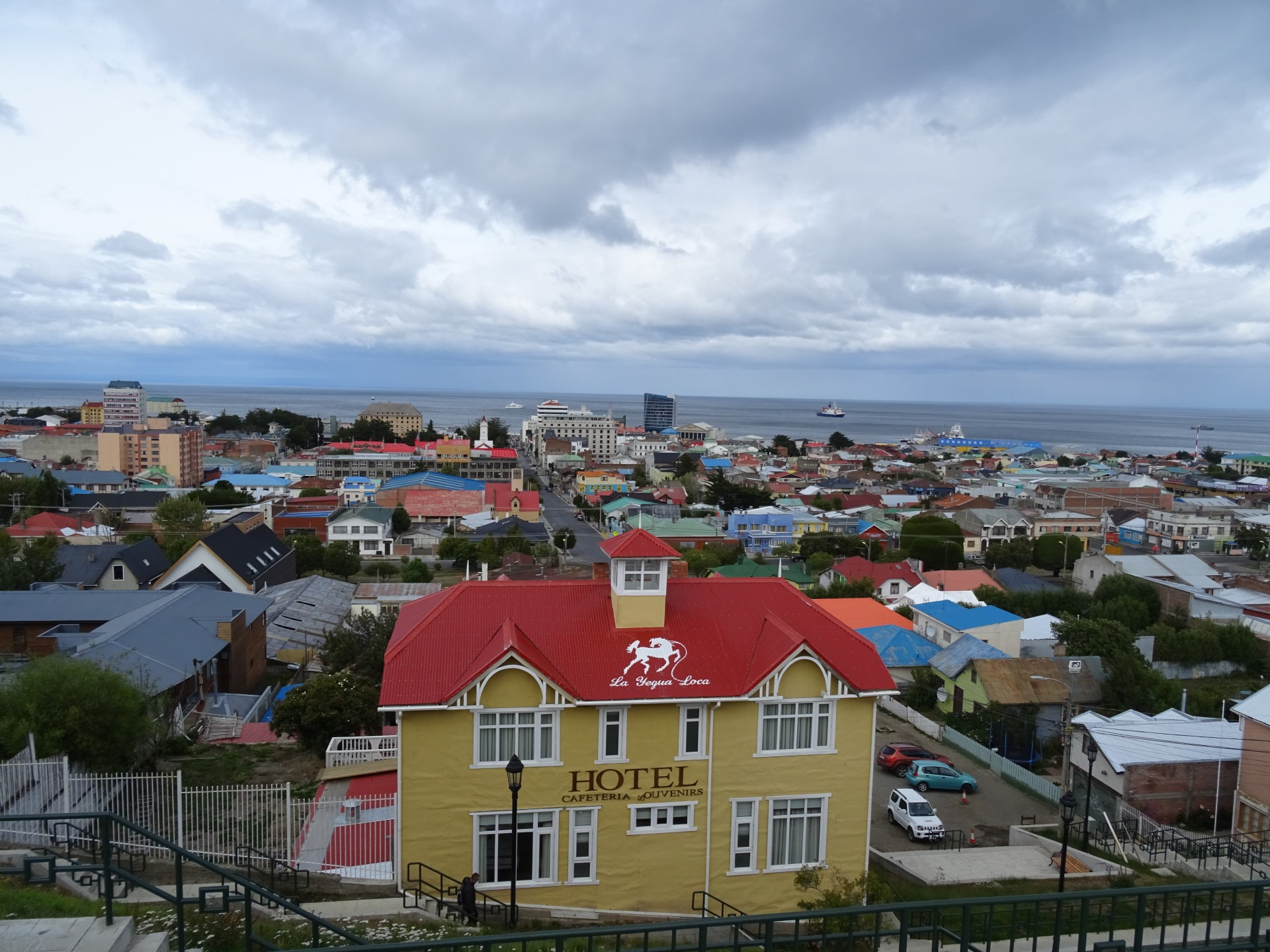 Colourful roofs abound in the south. They've not got a lot of other colour, have they?