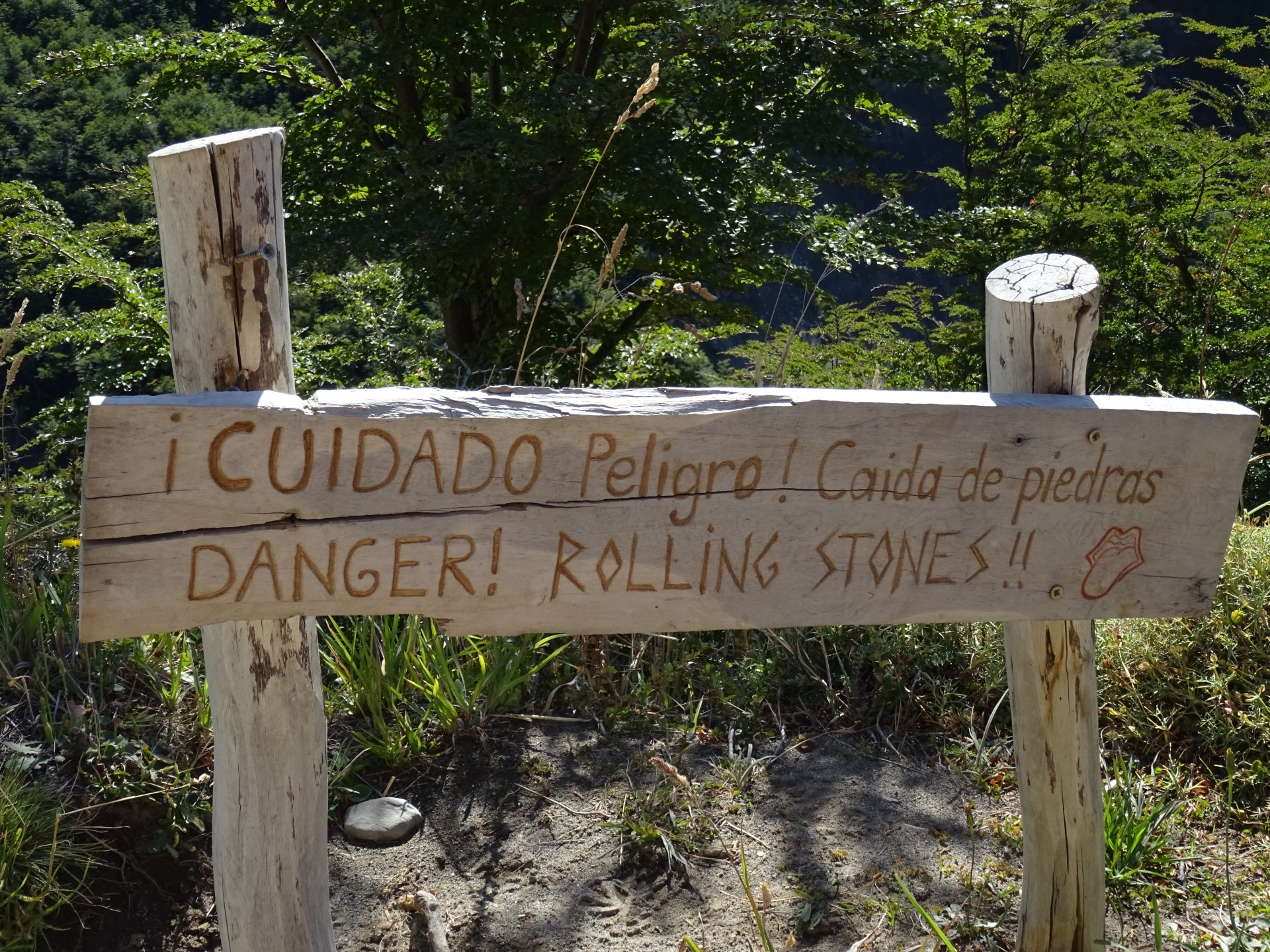 Not falling debris, or rock slides. No. Rolling Stones.