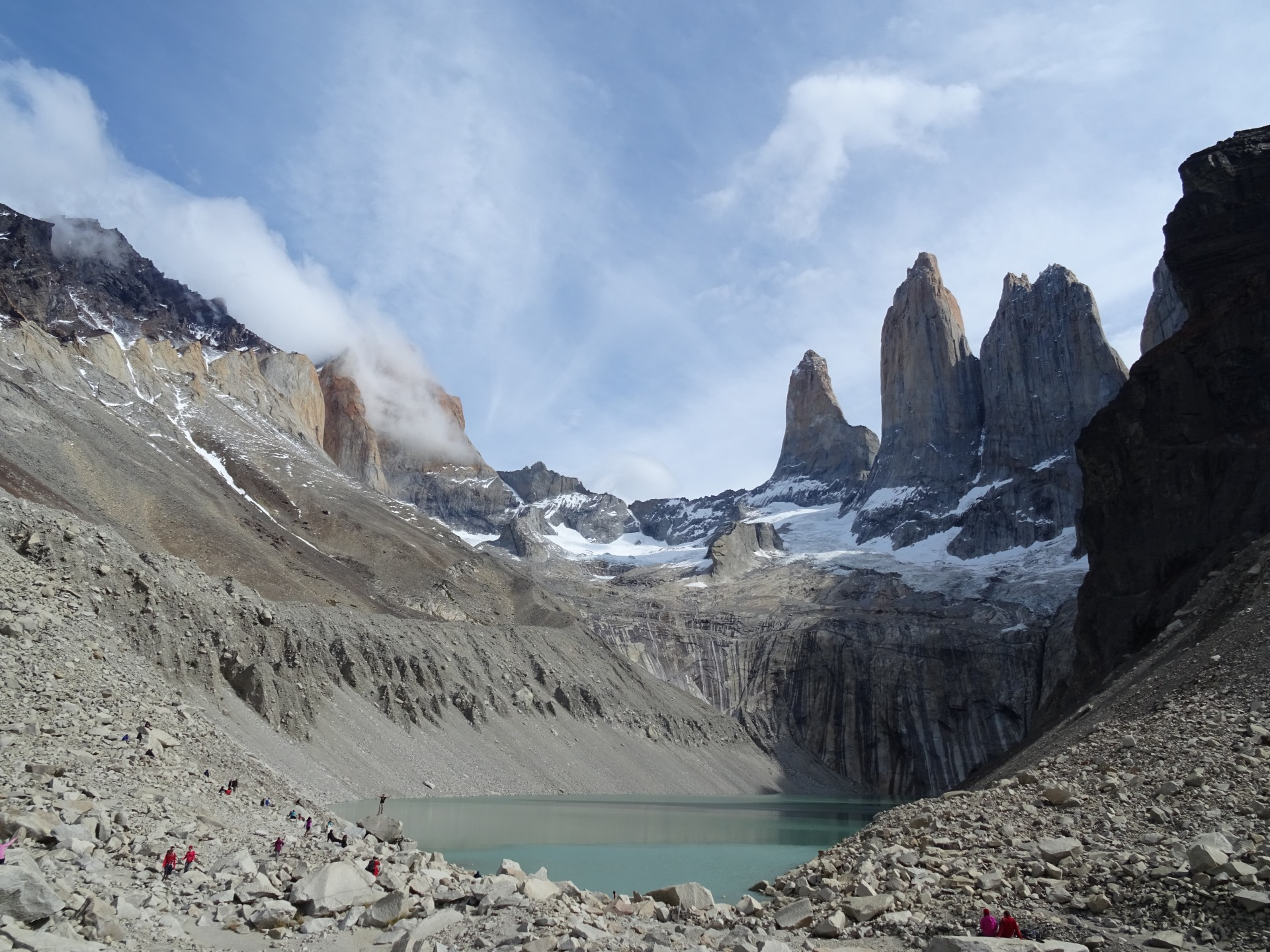 The Torres del Paine, in all their splendour.