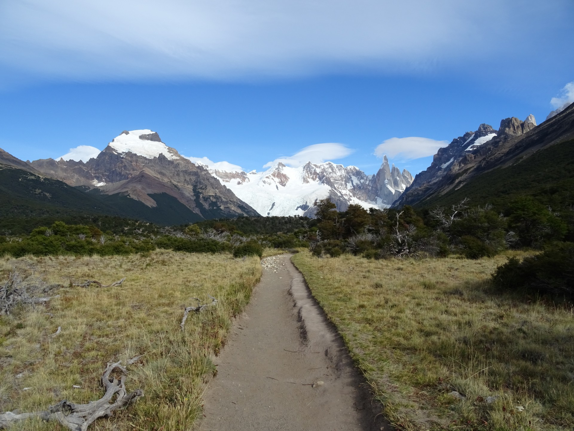 Walking to Laguna Torre. The unloved Ice Cream Mountain on the left. I feel sorry for him.