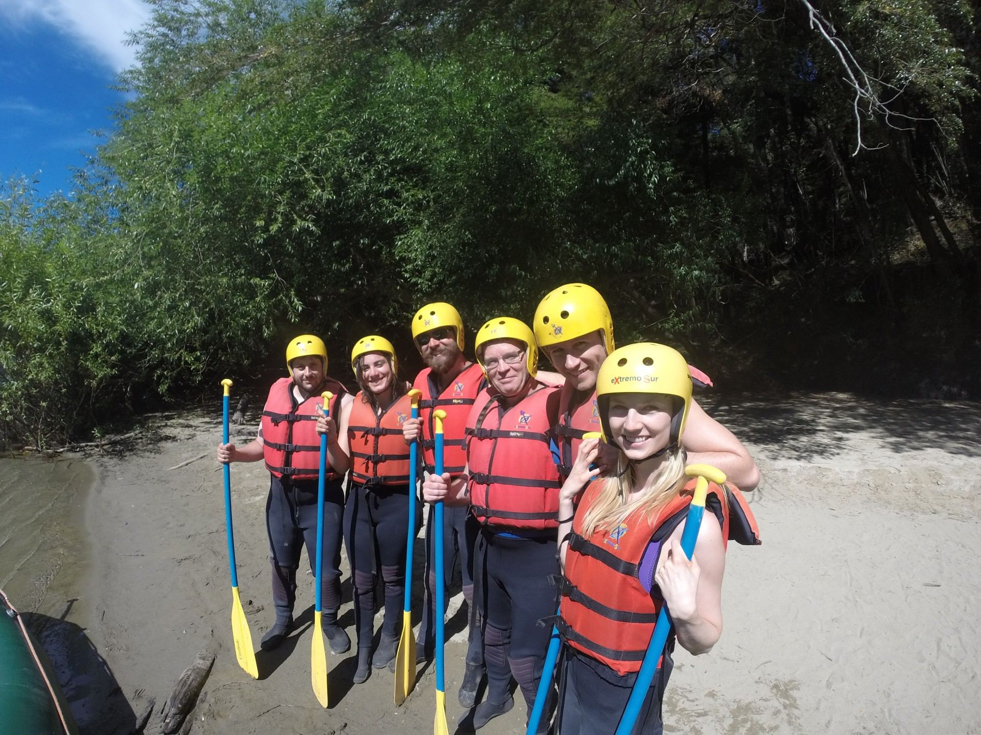 All ready for rafting.