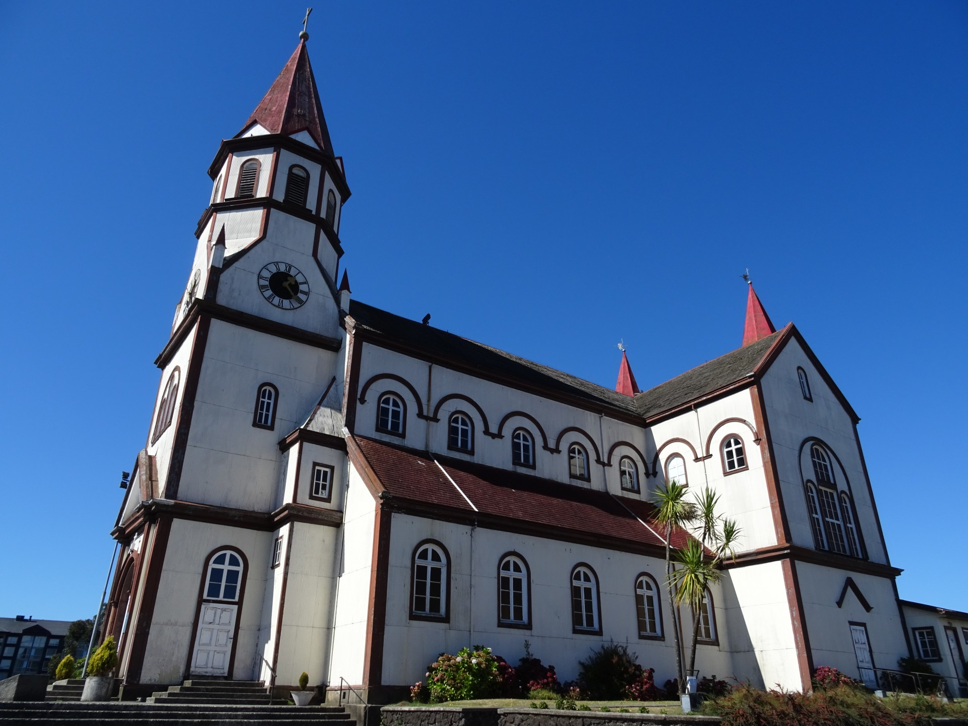 A pretty cathedral in Puerto Varas.