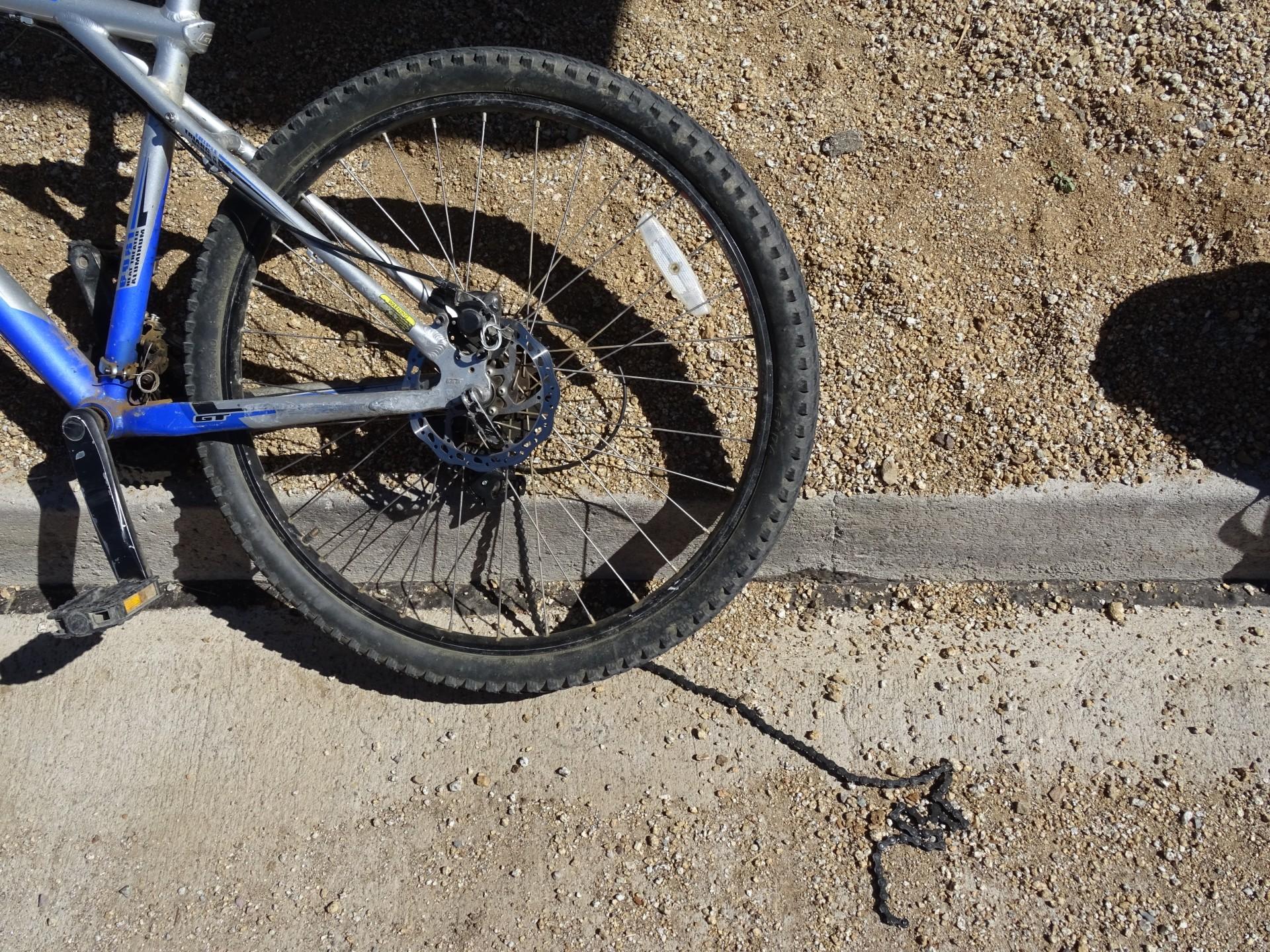 A broken bike.