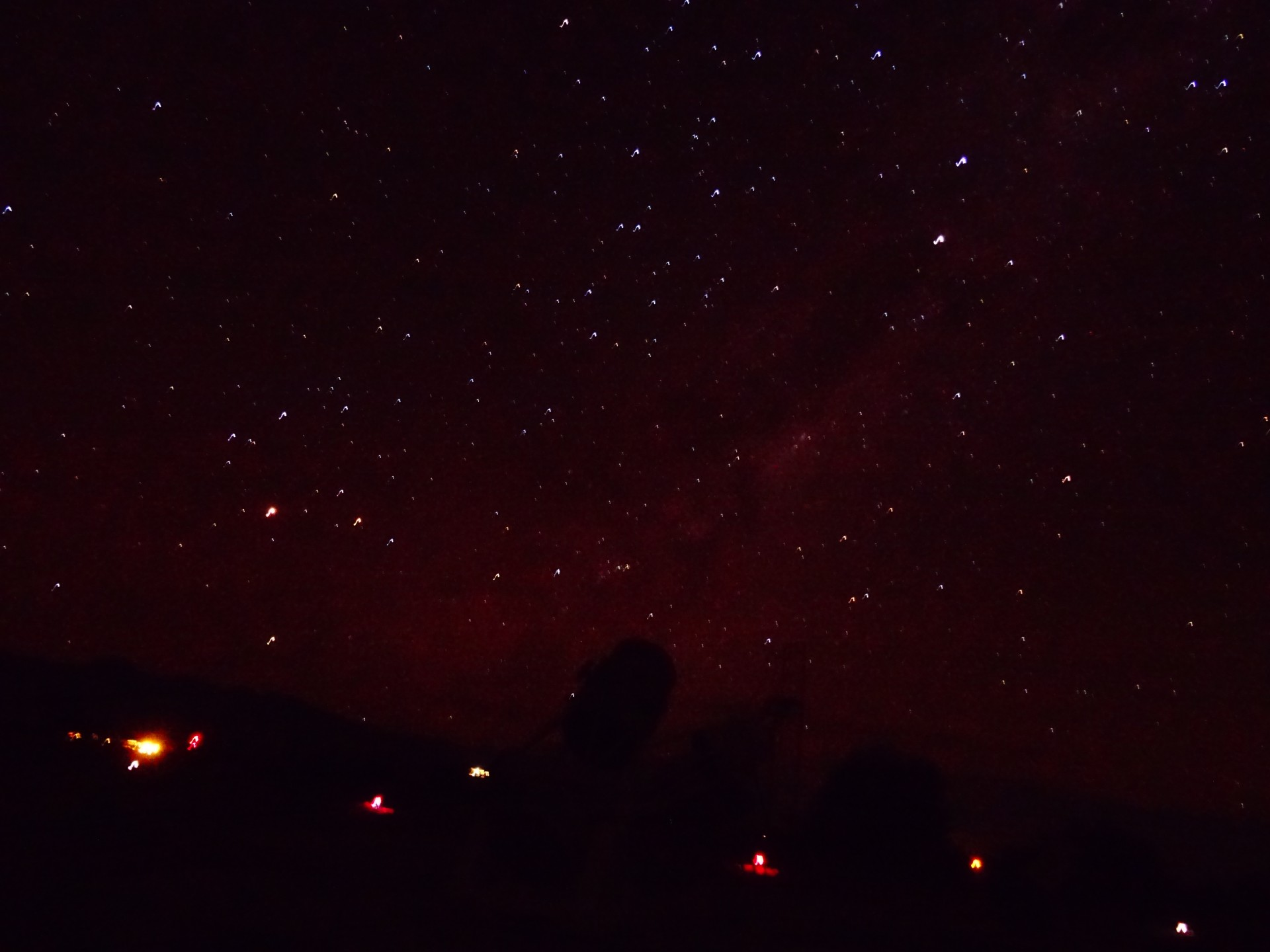 A picture of the stars. Heyy, it's a first attempt!