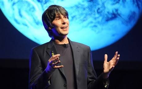 Space is his background. Photo courtesy of telegraph.co.uk