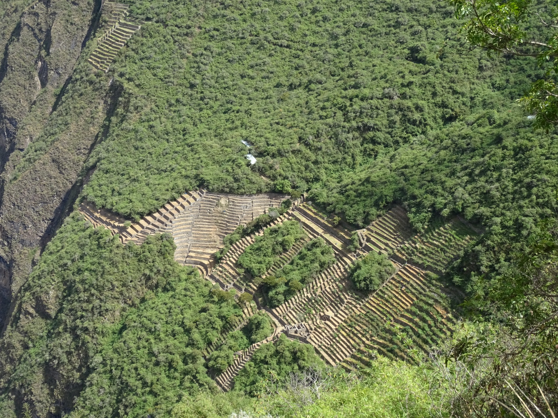 Terraces far below Choquequirao main. Maybe they're buried everywhere here.