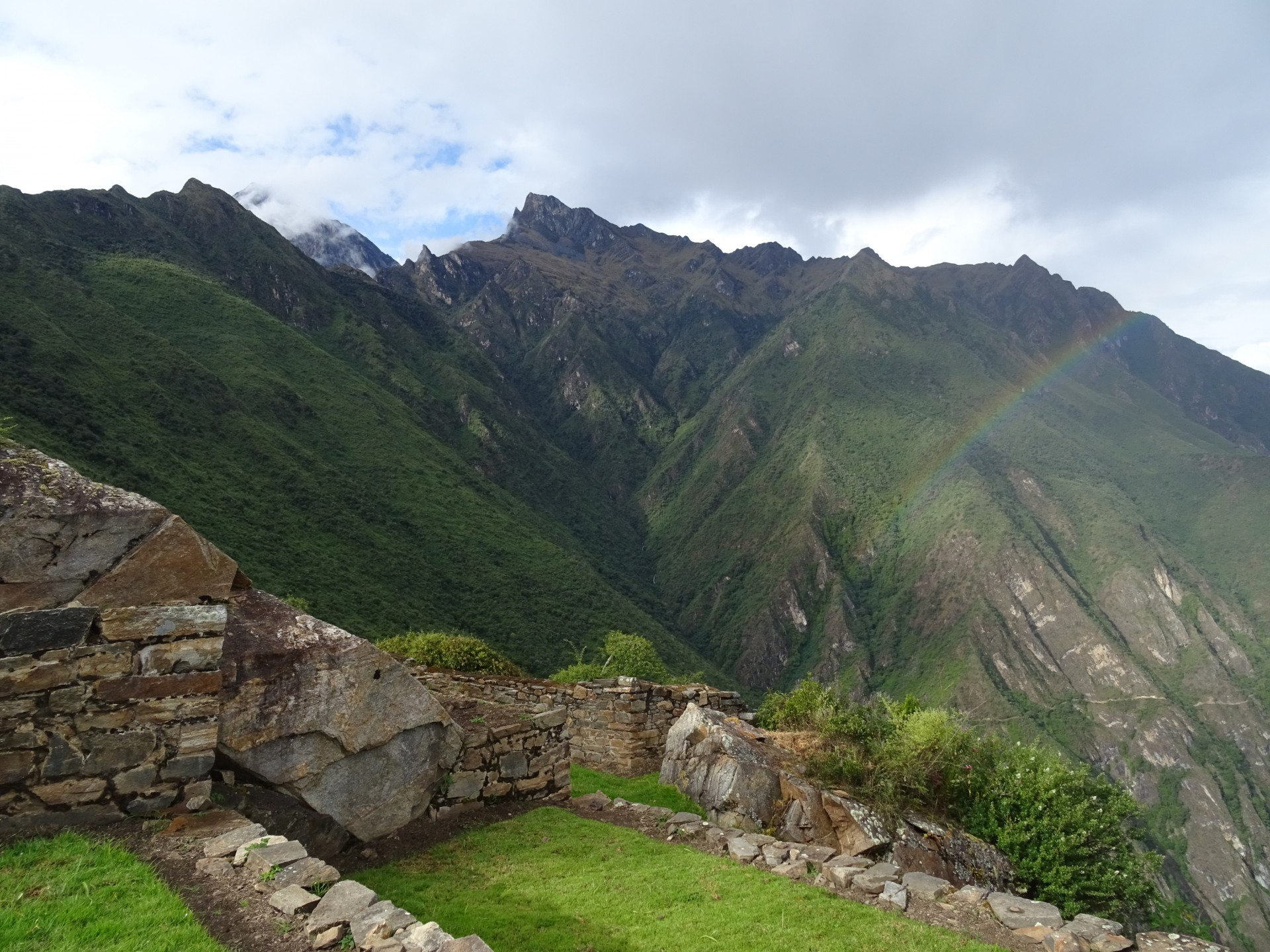 The Incas worshipped the mountains as providers of life - water. From here, they had a waterway all the way over the mountain you see in the background.
