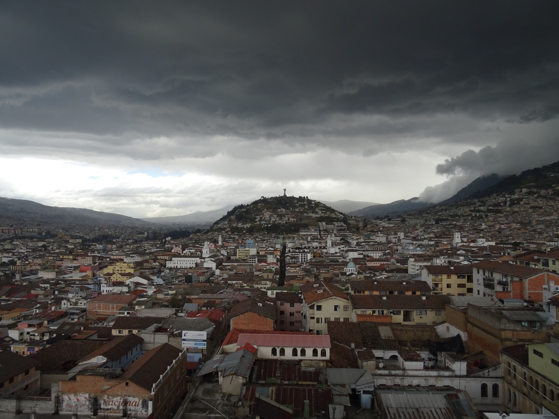 Quito. With added moody clouds.